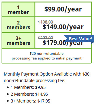 senior dental plan rates